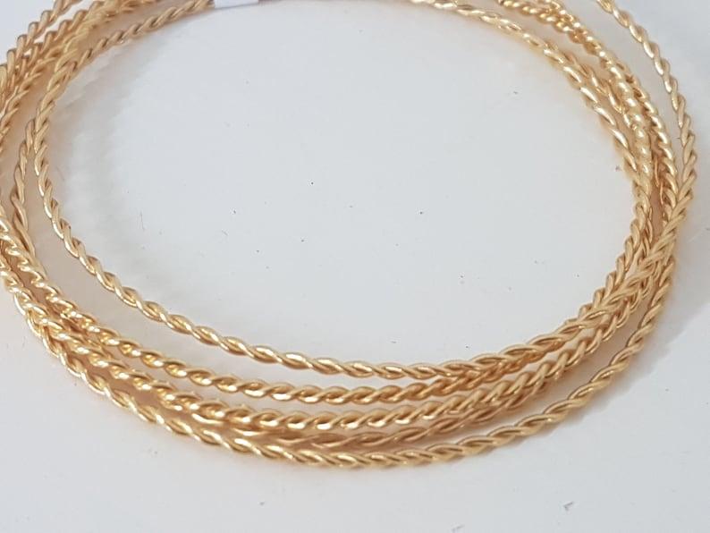 fba86f2e39b24a Oro ritorto treccia hoop bracciale bracciale impilabile ori | Etsy