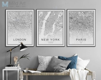 living room wall art creative freeshipping world famous city map london paris new york poster print nordic living room wall art picture home deco canvas painting no frame room wall art etsy