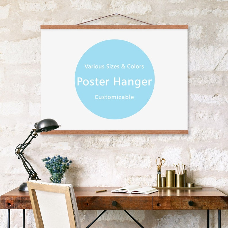 DIY Minimalist A4 A3 40 70 50cm Magnetic Poster Picture Wooden image 0