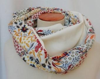 SNOOD floral print spring women's scarf