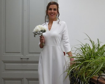 Winter wedding dress with long sleeves