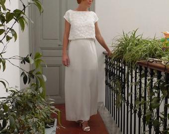 Women's wedding skirt for a minimalist or boho bridal separates dress