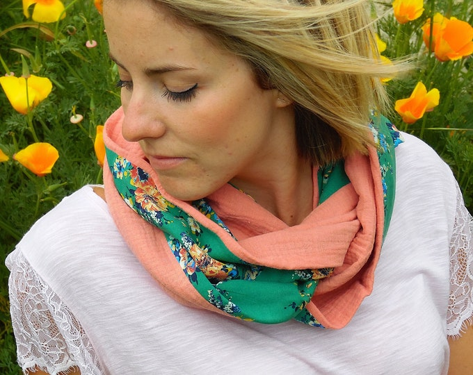 Snood cotton woman in different colors and patterns