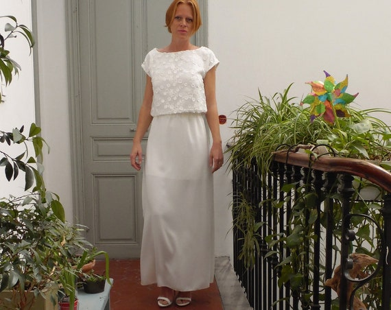 Women's wedding skirt for a minimalist or boho bridal separates dress