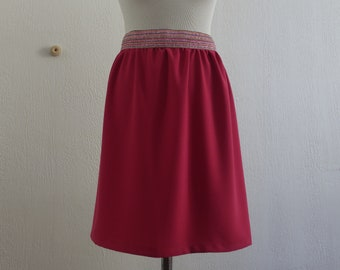 Women's skirt with sequin elastic