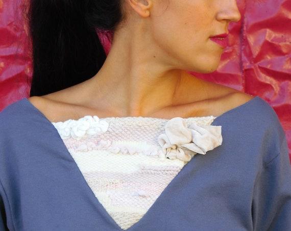 Woman sweater, weaving