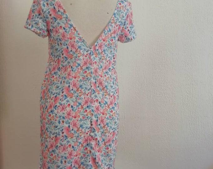 Flowery summer dress for women