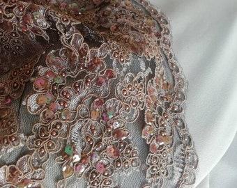 Robe beige rosé Emmanuelle L