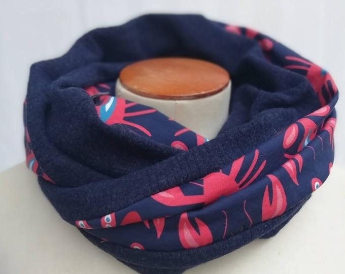 SNOOD winter women's scarf printed Lobsters