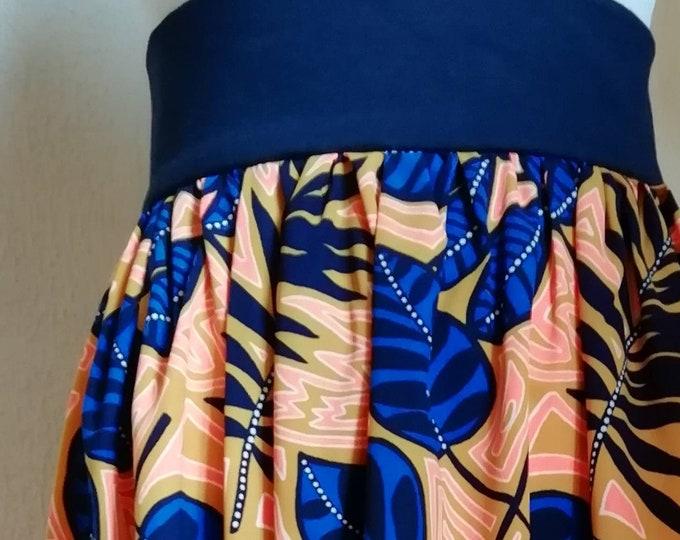 Women's wax style midi skirt