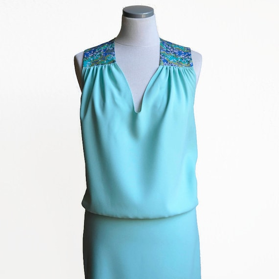 Seafoam green summer dress for woman.