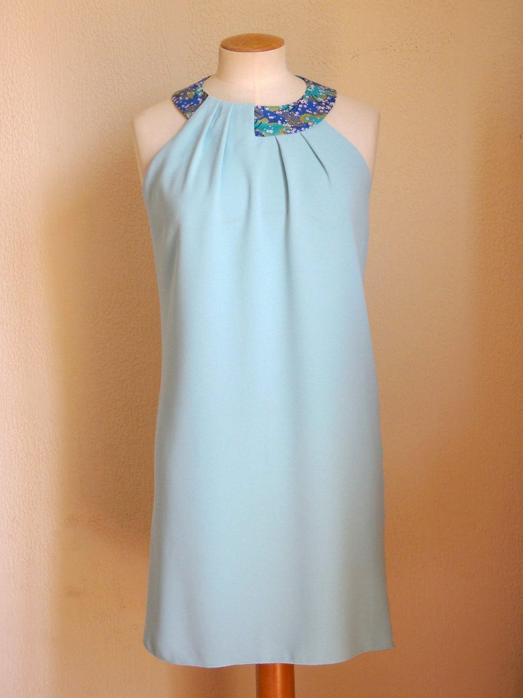 robe turquoise bleu ciel vert d 39 eau vert amande etsy. Black Bedroom Furniture Sets. Home Design Ideas
