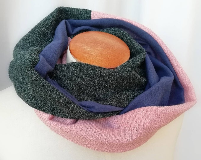 Snood multicolored scarf woman