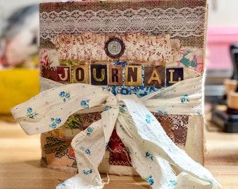 Handmade Mini Junk Journal, Personal Journal, Travelers Journal, OOAK Journal