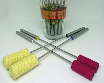 Fire Wands / Fire Torches / Fuel Torches for Fleshing & Cupping Massage, Set of Two Fire Torches, Choice of head material