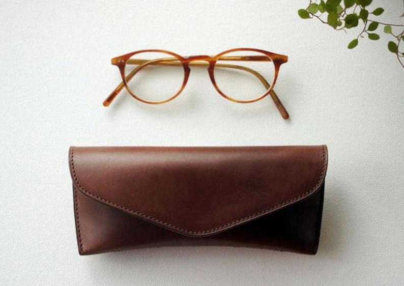 32cbbc6f57a7 Handmade Vegetable leather Spectacle case Glasses case