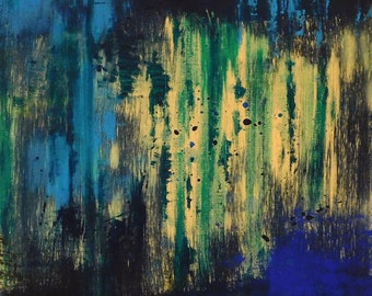 Original abstract acrylic painting on canvas, modern art, contemporary art