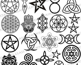Pentacle Stencil Etsy