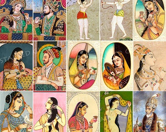 India decals, ceramic decal, mughal decals, decals jewelry, decal enameling, decals ceramics, decals glassfusing, exotic decals, indian girl