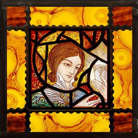 Glas In Lood Engels.Engel Gebrandschilderd Glas In Lood Religieus Glas Engel Etsy