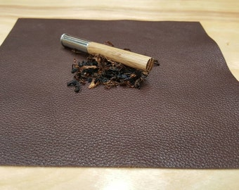 Soft leather pipe mat, white oak tobacco pipe tamper, Handmade in USA, smoking pipe, James Davis Pipes