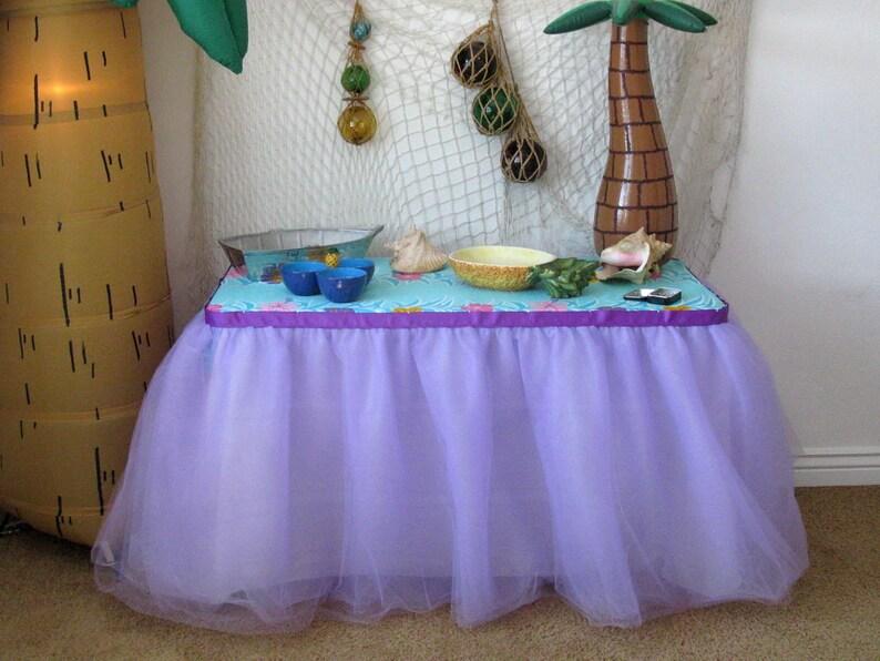 de113b3bcb Lawenda Tiul stół spódnica Tutu Tableskirt na wesele