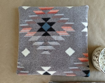 Large Aztec Fleece Heating Pad /Dried Lavender Aromatherapy Hot Pack/ Back, Shoulder, Neck Heating Pad/ Microwaveable Heat Pack