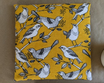 Large Bird Print Heating Pad /Dried Lavender Aromatherapy Hot Pack/ Eye Mask, Back, Shoulder, Neck Heating Pad/ Microwaveable Heat Pack