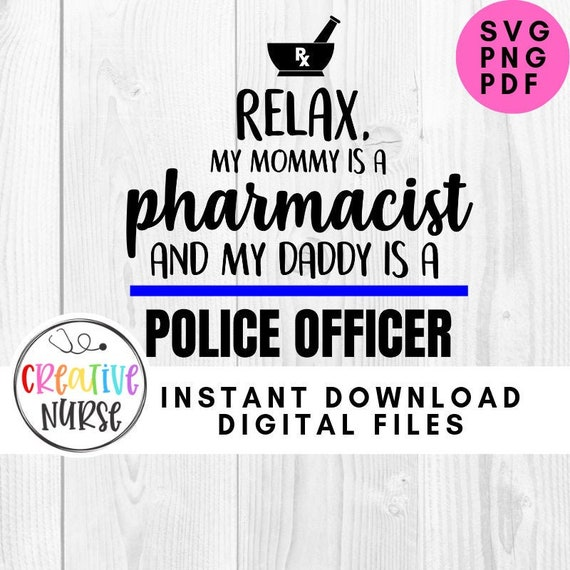 Medication Prescription SVG   svg png cutting files for silhouette or cricut Instant Download  Pharmacy Pharmacist