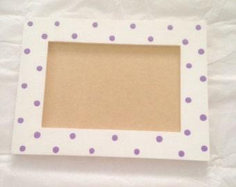4 x 6 Polka Dot Picture Frame
