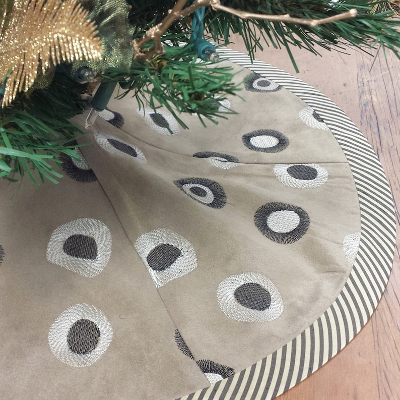 faux suede 23 Jungalow Christmas Tree Skirt: Mini Tabletop contemporary african jungle tribal safari silk modern abstract leopard