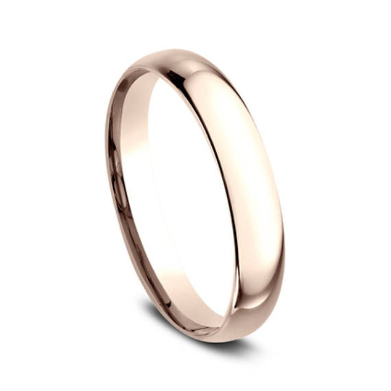 ec9cd1f13d3 4mm rose gold wedding band for women rose gold band for