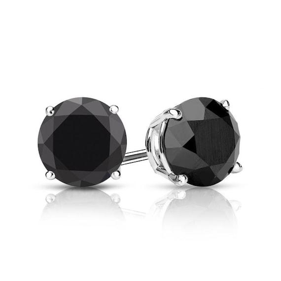 Simple Date Night Jewelry Black and Gold Gemstone Earrings Black Onyx 14k Gold Earrings