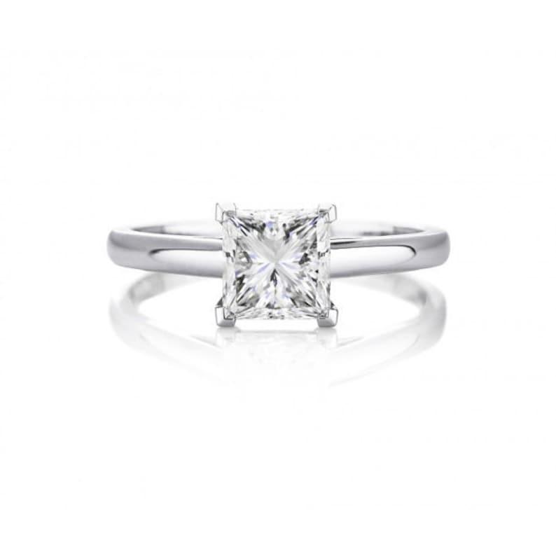 1 Carat Princess Cut Diamond Ring 1 Carat Solitaire Engagement Ring Princess Cut 1 Carat Engagement Ring 1 Carat Diamond Solitaire Ring