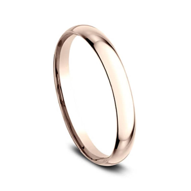 Plain Gold Wedding Band 2mm Rose Gold Wedding Band 2mm Gold Etsy