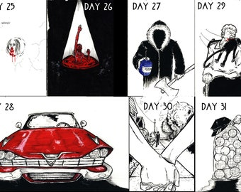 October Ink Project Days 25-31