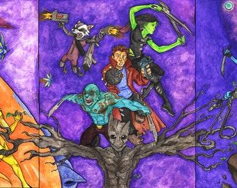 Guardians of the Galaxy Triple-Play (11x14 Prints)