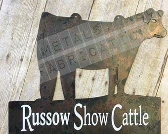 Personalized Show Calf Sign for Stalls and Barns Perfect for FFA and 4H Stock Show Kids, Awards for Jackpots, County Fairs State Fair