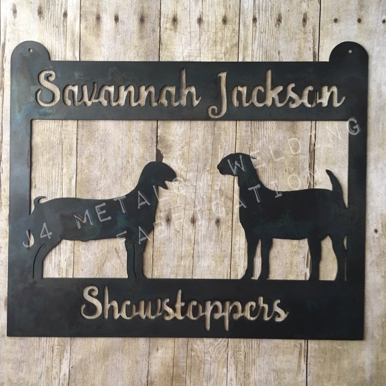 Show Goat Sign with Wether and Doe Boer Goat for Stock Shows, Fairs, Barn  Stalls, Great for FFA and 4H Stock Show Kids, Awards for Shows
