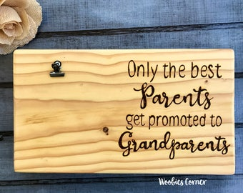 Grandparent frame, Grandparents gift, Only the best parents get promoted to grandparents, New grandparent gift, Gift for Grandparents