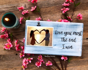 I Love You More Picture Frame Etsy