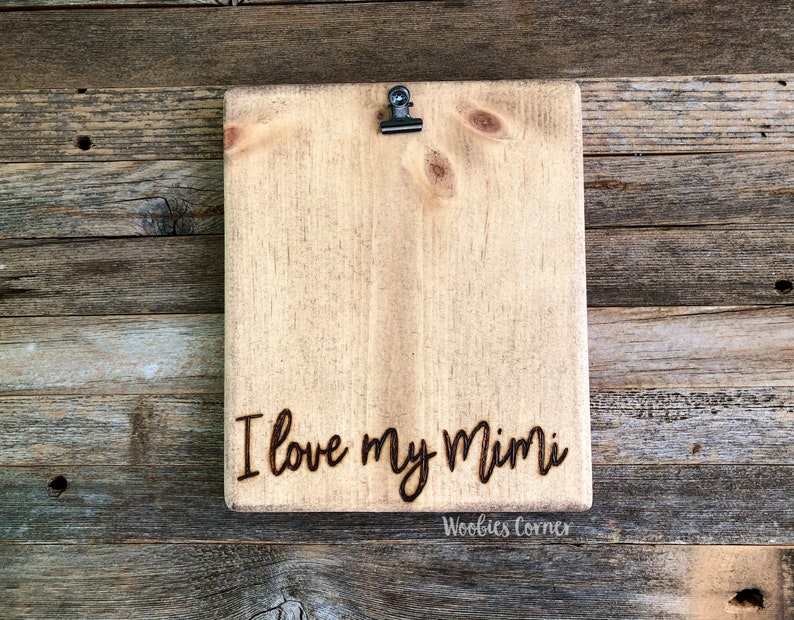 Mimi picture frame Mimi birthday gift Mothers day gift I love my Mimi photo frame Mimi gifts Gift for Mimi Personalized Grandma gift