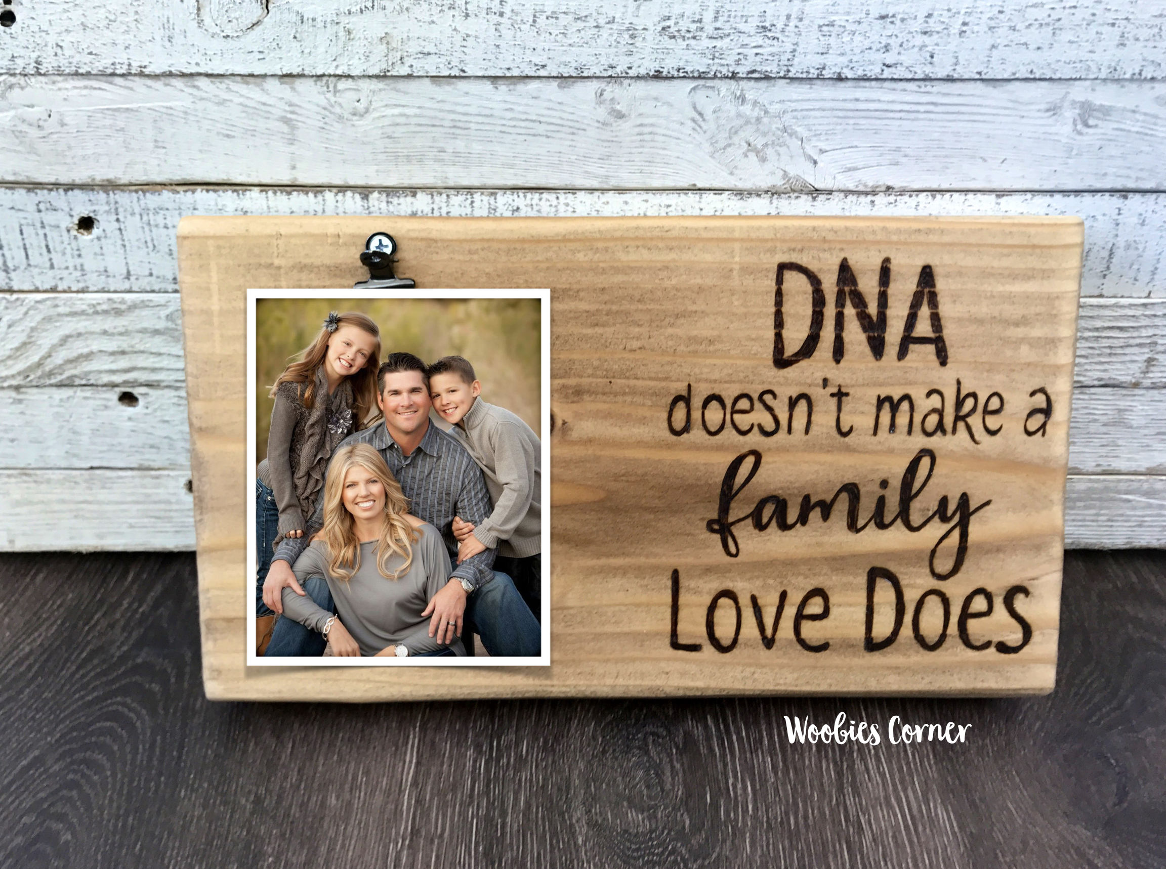 Blended Family Photo Frame Dna Doesn T Make A Family Love