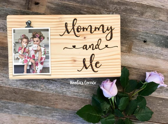 Mom Picture Frame Mommy And Me Gifts New Mom Gift Wood Etsy