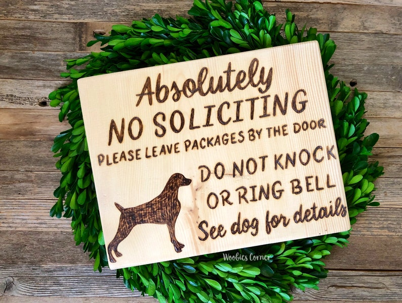 Gifts Wood Sign Decorations It/'s Not A Home Without A WEIMARANERDogs