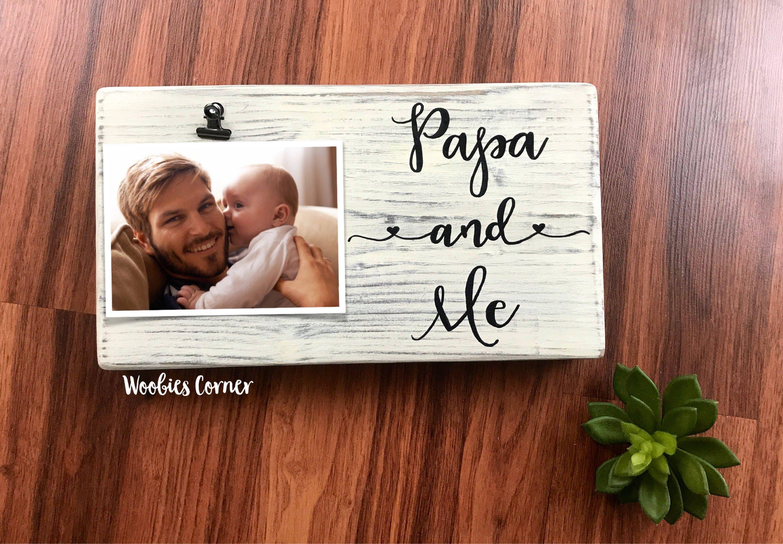 Papa gifts, Papa picture frame, Papa and me frame, Nursery frames ...