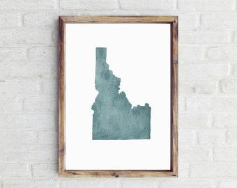 8a27803d7df Idaho Watercolor Print. State Illustration. Idaho Art. State Print.  Watercolor State. Idaho Gift. Idaho Illustration. Home Decor