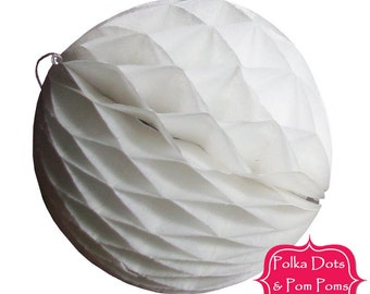 Birthday Party Decoration Ideas & Supplies / 29cm WHITE Tissue Paper Honeycomb Ball / LARGE / Wedding / Baby Shower