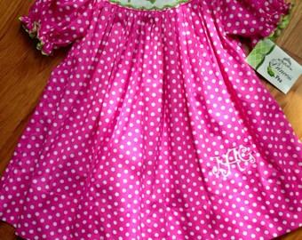 Smocked Ornament polka dot christmas dress