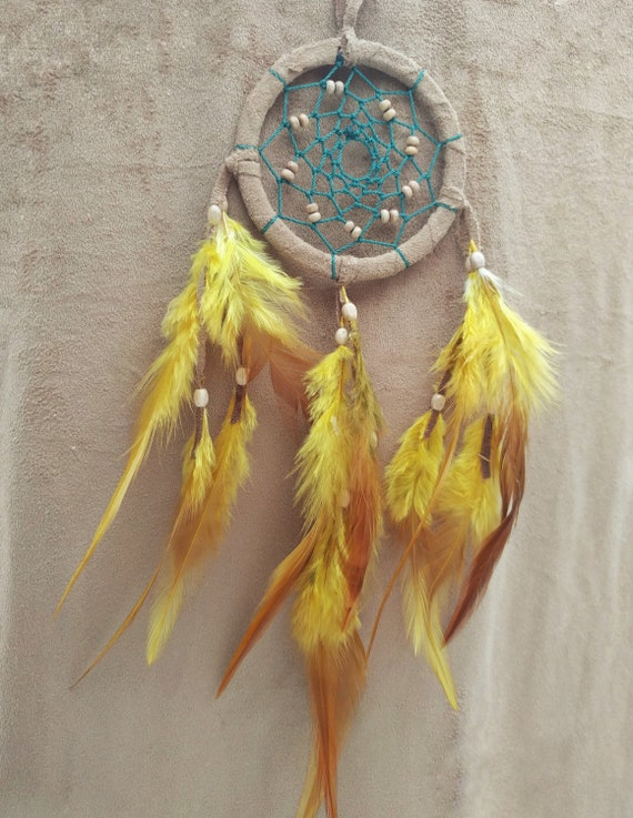 New Hanging Car Charm ~ Native American Feather Blue Howlite  Mobile ~ Gift Idea